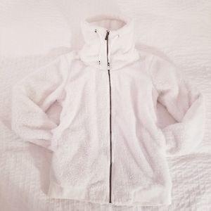 Roxy | Teddy Bear White Sweater Jacket Coat